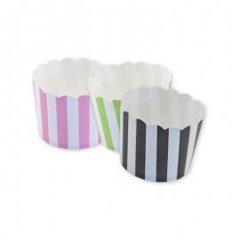 12 Caissettes à Cupcake Rayées
