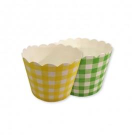 12 Caissettes pour Cupcake Carreaux