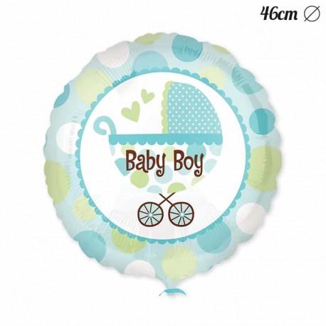Ballon Baby Shower Garçon avec Poussette 46 cm