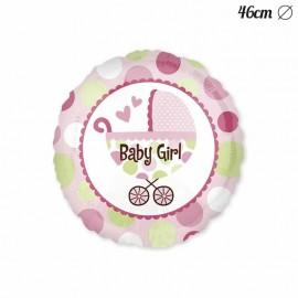 Ballon Baby Shower Fille avec panier 46 cm