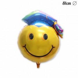 Ballon Smiley Remise des Diplomes Mylar 81 cm