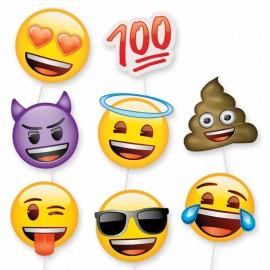 8 Accessoires Emojis pour Photobooth