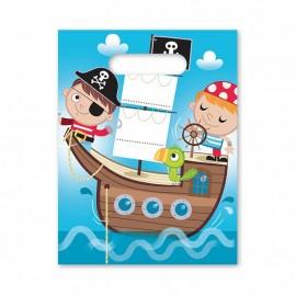 6 Sacs Pirate Enfant