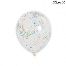 6 Ballons à Confettis 30 cm