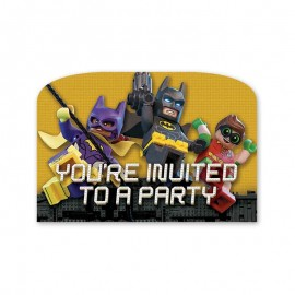 6 Invitations Lego Batman