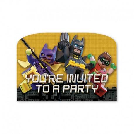 6 Invitations Lego Batman