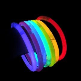 Bracelets Lumineux Unicolores (100 u.)