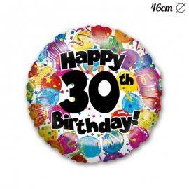 Ballon d'Anniversaire 30 ans Mylar M03 46 cm
