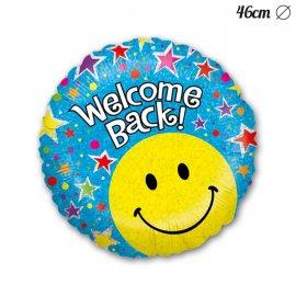 Ballon Rond Welcome Back Smile En Mylar 46 cm