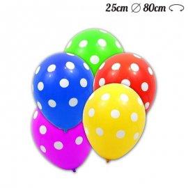 Ballons Pois Latex 25 cm