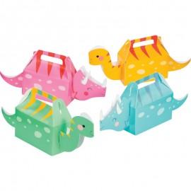 4 Boîtes 3D Dino Party