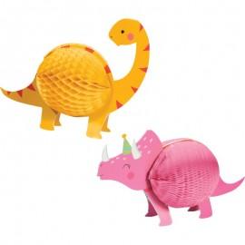 2 Centres de Table Dino Party