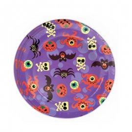 8 Assiettes Halloween Amusantes 23 cm