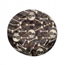8 Assiettes Crâne Halloween 23 cm