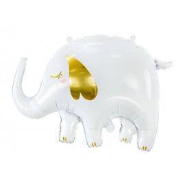 Ballon Elephant Blanc Aluminium 61 x 46 cm