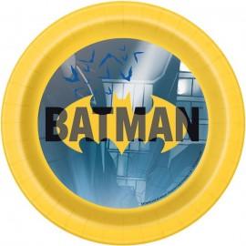 8 Platos Batman 18 cm
