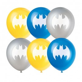 8 Globos Batman de Látex