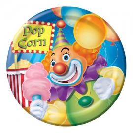 8 Assiettes Clown 18 cm