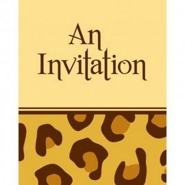 8 Invitaciones Jirafa