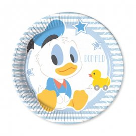 8 Assiettes Baby Mickey 20 cm