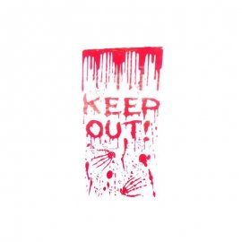Lettres Keep Out en Sang