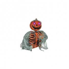 Squelette citrouille luminescent moyen