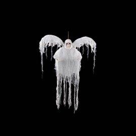 Fantôme blanc avec ailes et lumière colorée