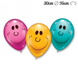 Ballons Arrondis Smiley 30 cm