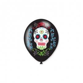 6 Ballons Latex Le Jour Des Morts