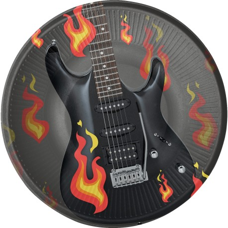 8 Platos Rock & Roll 23 cm