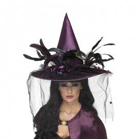 Chapeau De Plumes Violet