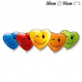Ballons Smiley En Forme de Coeur