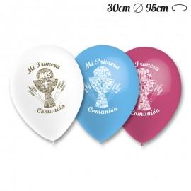 Ballons Ronds Première Communion 30 cm