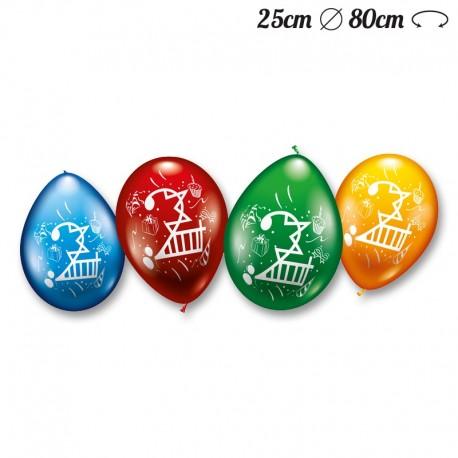 Ballons Arrondis Numéro 2 M02 25 cm