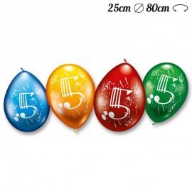 Ballons Arrondis Numéro 5 M02 25 cm