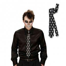 Cravate avec Tête de Mort