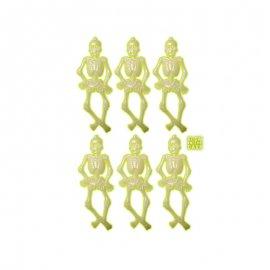 6 Squelettes Lumineux Brillants