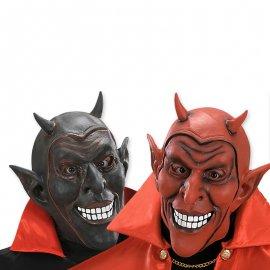 Masque de diable avec cornes rouges