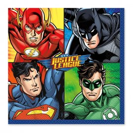 16 Serviettes Justice League 33 cm