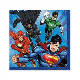 16 Serviettes Justice League 25 cm