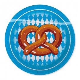 8 Assiettes Oktoberfest 18 cm