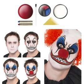 Kit de peinture clown avec nez
