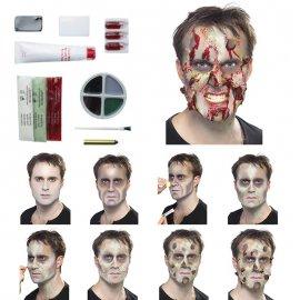 Kit avec sang pour zombie en latex