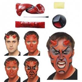 Kit de peinture diable avec cornes et sang