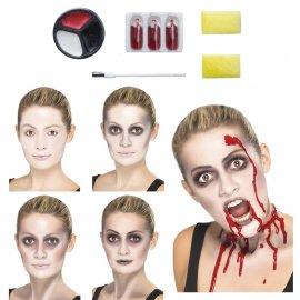 Kit de peinture zombie avec brosse et sang