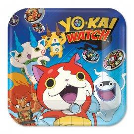 8 Assiettes Yo Kai Watch 23 cm