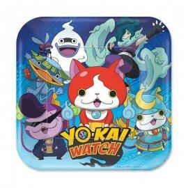 8 Assiettes Yo Kai Watch 18 cm