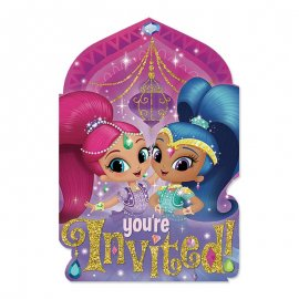 8 Invitations Shimmer & Shine