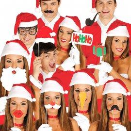 12 Accessoires pour Photobooth de Noël