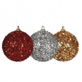 4 Boules de Noël Effet Congelé 6 cm